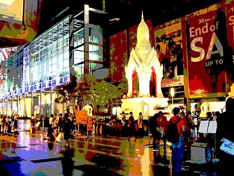 Thailand,Bangkok , Buddhist temple
