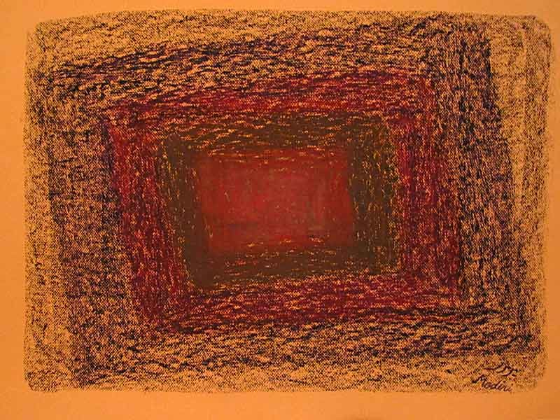 Untitled-Oil pastile on paperboard