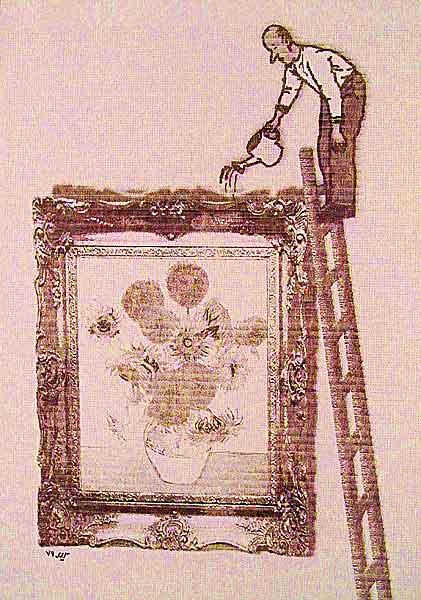 Van Gog sunflower - digital artwork