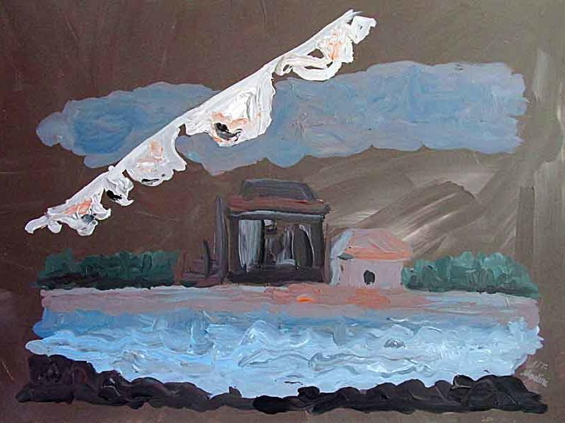 landscape: acrylic on canvas , 60x80cm. July2014