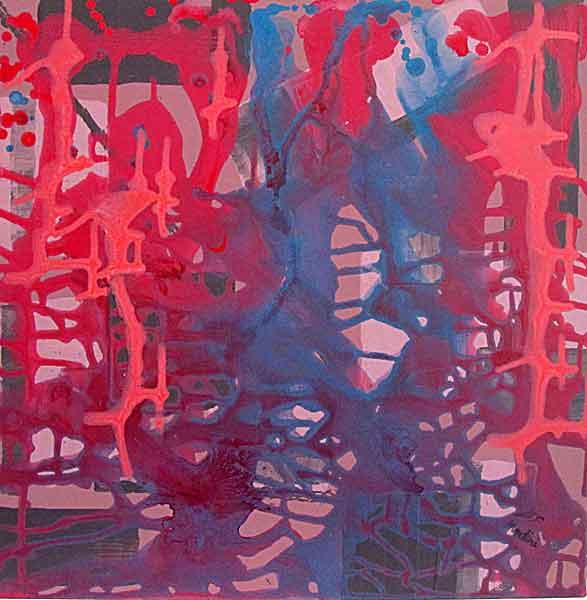 Imaginations , acrylic on canvas, 60x60cm. December2014