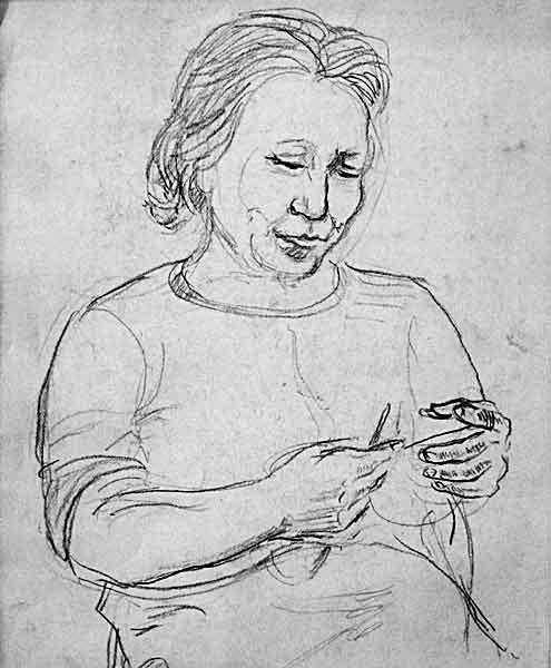 artist,s mother, 1978
