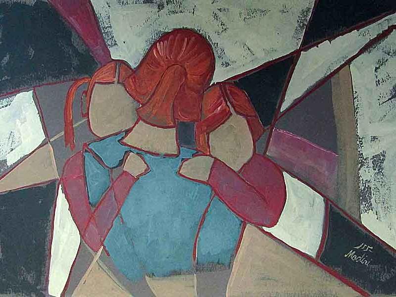 Self deveotion(motherhood), acrylic on paper ,70x100 cm. July 2015