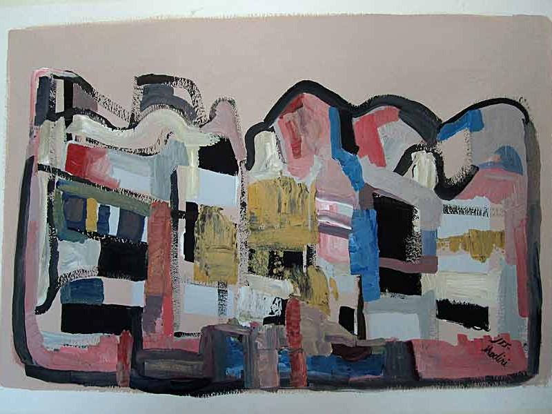 House :acrylic on paper ,70x100 cm. September 2015